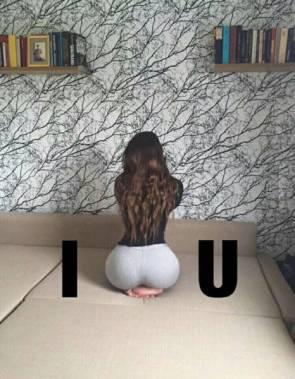 I butt you