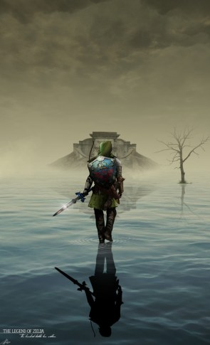 Link at the water house