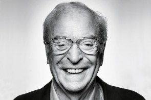 Michael Caine in black and white