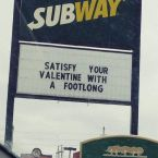 Satisfy your valentine with a footlong