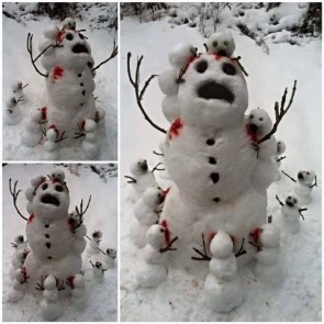 Snow man canibles