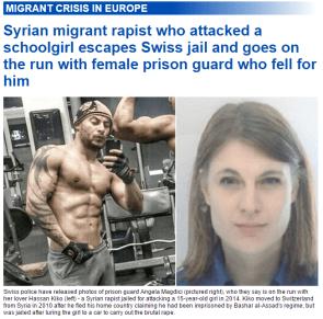 Syrian migrant rapist
