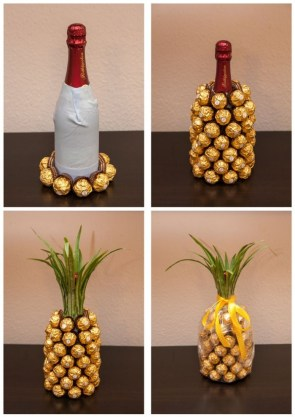 Wine and Chocholate into Pineapple