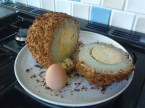 a large fried egg