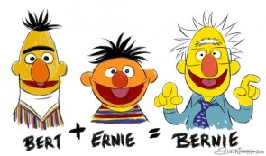 bert and ernie equals bernie