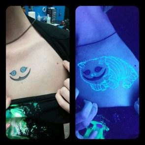 cheshire cat UV tattoo