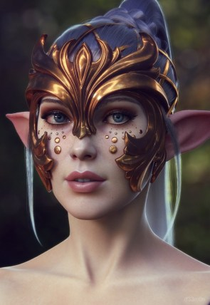 elf mask with ears