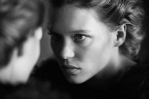 lea seydoux – black white photoshoot for interview magazine