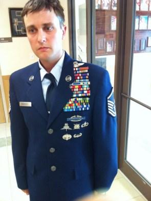 shocked award winning military man