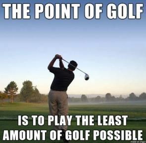 the point of golf