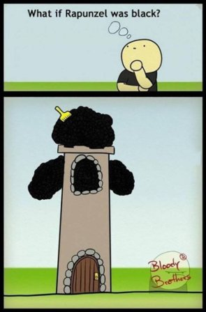 what if repunzel was black