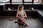 wooden bench yoga