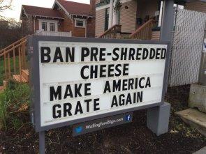 Ban Pre-Shredded Cheese