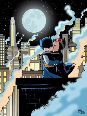 Bruce and Selina – homage to Jim Lee by Yale Stewart