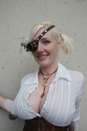 Busty Steampunk Cosplay