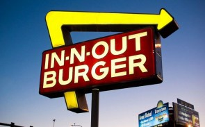 In and Out Burgers Sign