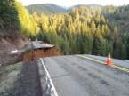 Northern California highway dissolves