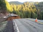 Northern California highway dissolves