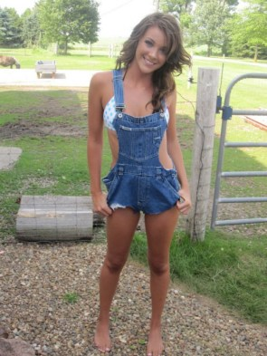 Sexy Cowgirl on the ranch