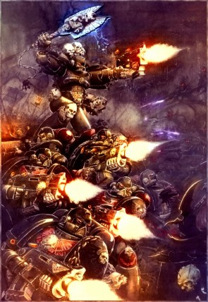 Space Marines on the assault