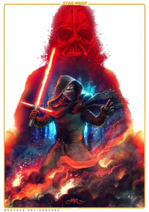 Star Wars – The Force Awakens Fan art by Thezork