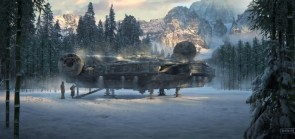 The Falcon in snow