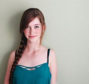 beautiful blue eyed woman