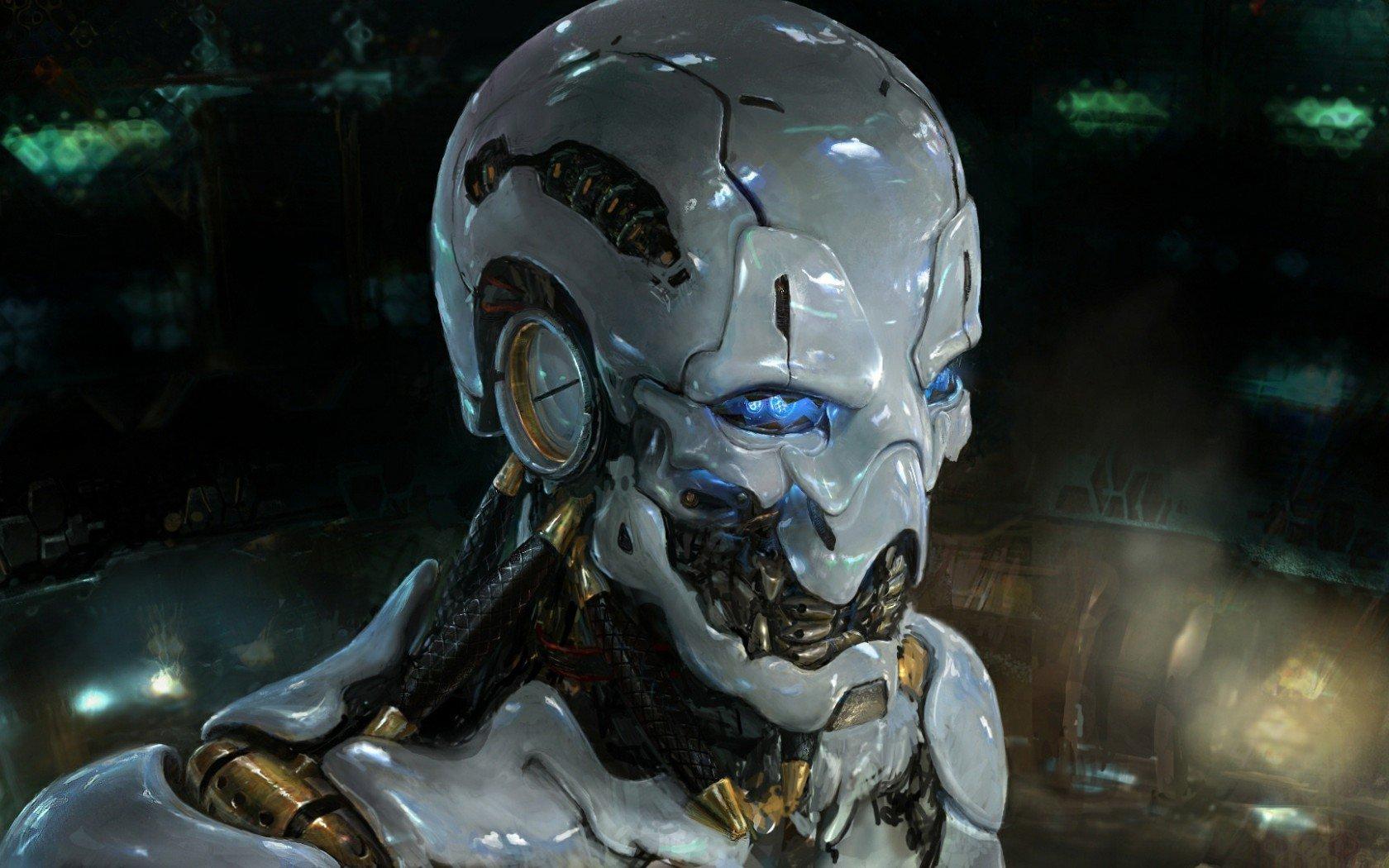 My Log Home 3d Live Wallpaper Blue Eyed Skull Robot Myconfinedspace