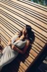 Mercedes Marie Hawkins – tan long dress