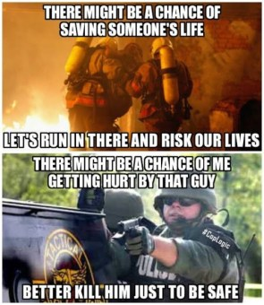 firefighters vs cop logic