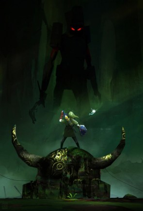 link vs forest monster