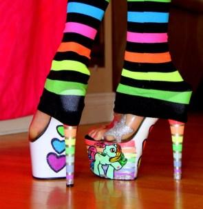 mlp rainbow shoes
