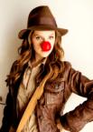 red nose indiana jones woman