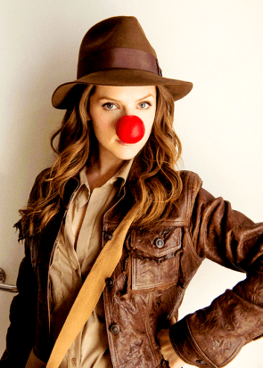 red nose indiana jones woman