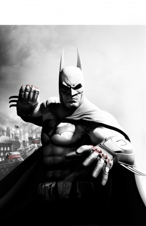 Batman with bloody knuckles