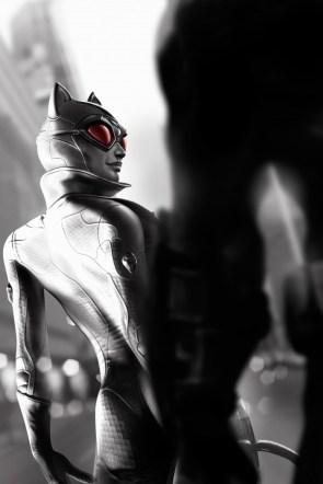 Catwoman shaking her ass for batman