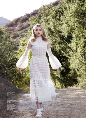 Chloe in white