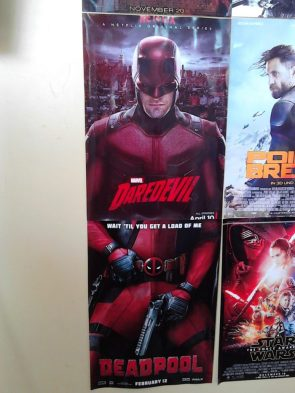 Daredevil and Deadpool posters line up