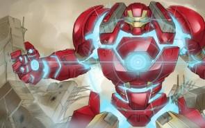 Iron man in blue