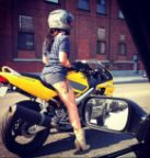 Leggy Biker