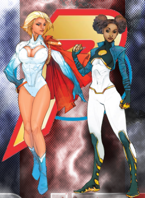 Powergirl and Friend