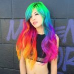 Rainbow hair is awesome