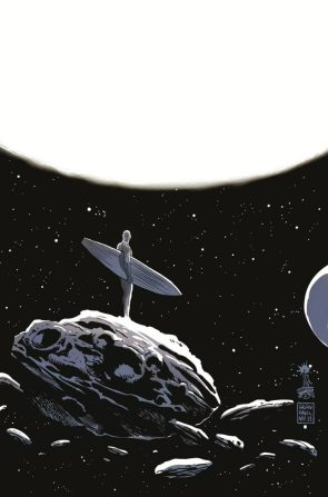 Silver Surfer checking out a nice star