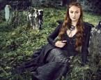 Sophie Tuner in black