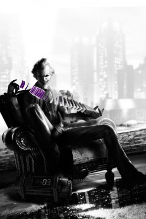 The Joker with his Purple Cards