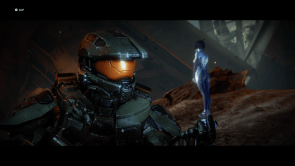 The chief is talking to Cortana