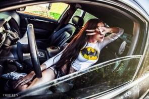 batgirl in a car