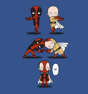 deadpool and one punch man
