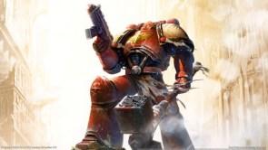 space marine with war hammer