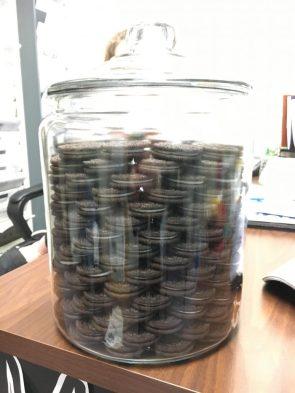 stacked oreo jar